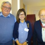 Colin and Brian with new Rotarian Lin