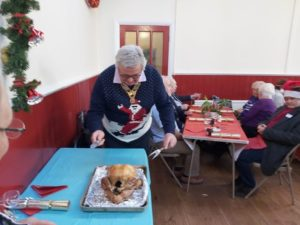 Colin Carving the Christmas Turkey