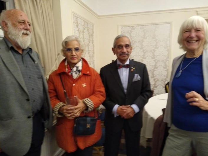 Dr Mohan and his wife and Owen and Anne Gates