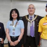 Rotary Disability Games 2016 - DG Helen and organiser Scott