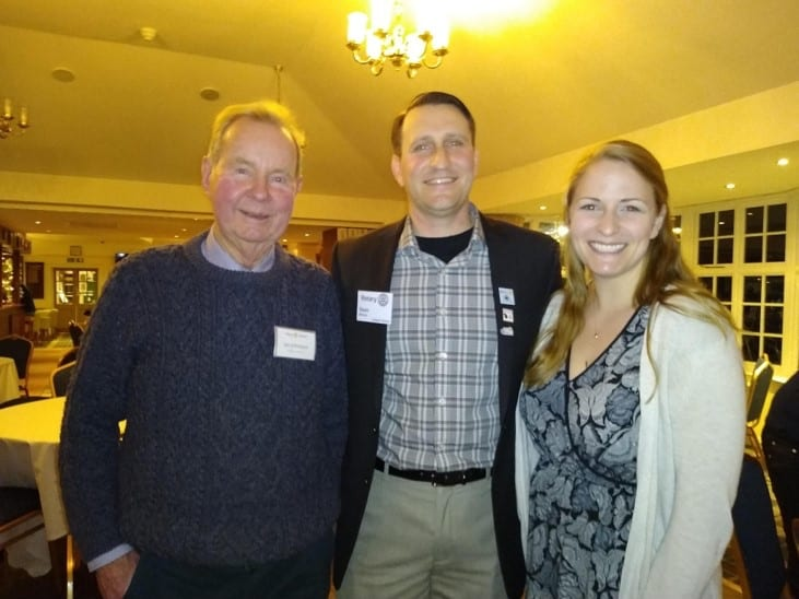 Sean and Amy Minton pictured with Rtn Dr Ian Johnson